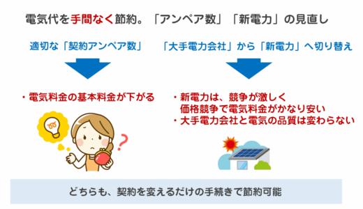 電気料金・電気代を「手間なく」かつ「数万円単位」で節約する節約術